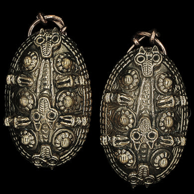 Bronze Viking Tortoise Brooches