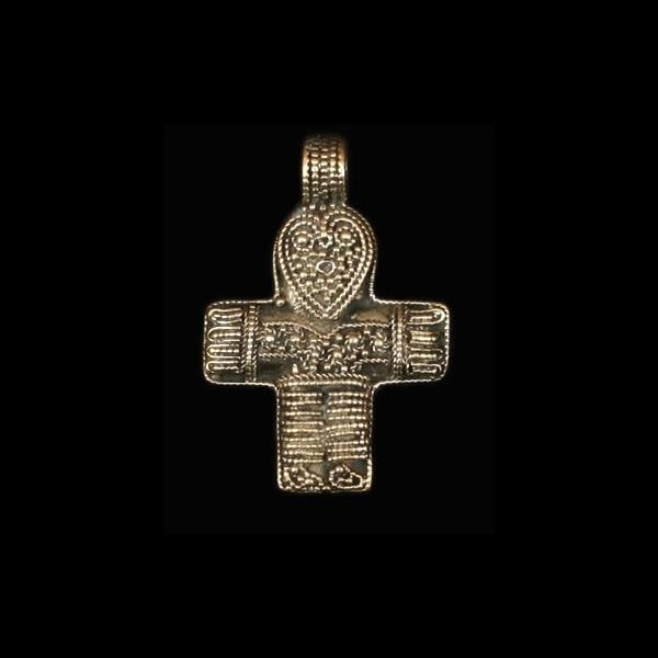 Danish Crucifix Pendant in bronze - Viking Pendants
