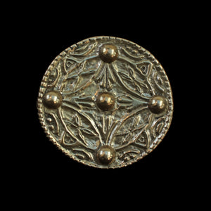 Bronze Saxon Replica Disc Brooch