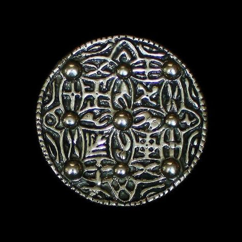Large Replica Saxon Disc Brooch in Solid Bronze - Viking Jewelry