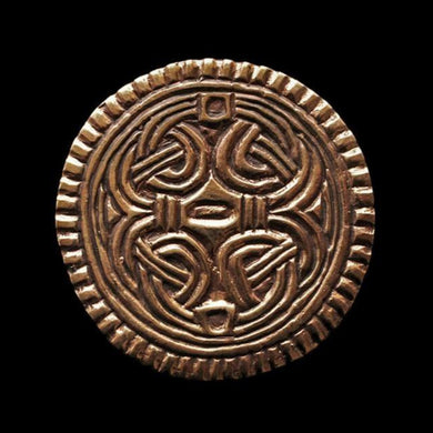 Large Bronze Borre Disc Brooch - Viking Brooches