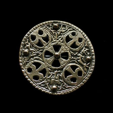 Large Bronze Trewhiddle Disc Brooch - Viking Brooches