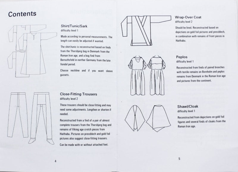 Scandinavian Vendel Period Clothing Book - Viking Craft & Design Books