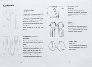 Scandinavian Vendel Period Clothing Book - Inside - Viking Craft & Design Books