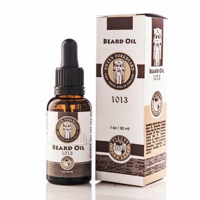Beard Oil 1013 in Glass Bottle with Pipette - Modern Viking Grooming Accessories