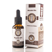 Load image into Gallery viewer, Beard Oil Viking Ice Storm in Glass Bottle with Pipette - Modern Viking Grooming Accessories