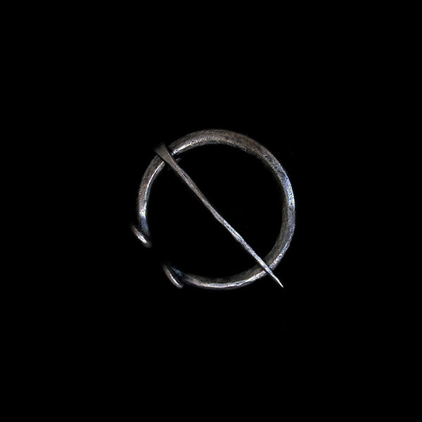 Plain Iron 40mm Penannular Brooch / Cloak Pin - Viking Clothing Accessories