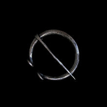 Load image into Gallery viewer, Plain Iron 50mm Penannular Brooch / Cloak Pin - Viking Clothing Accessories