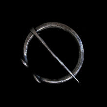 Load image into Gallery viewer, Plain Iron 60mm Penannular Brooch / Cloak Pin - Viking Clothing Accessories