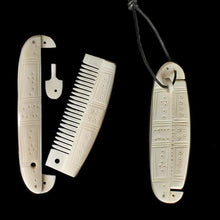 Load image into Gallery viewer, Decorated Encased Bone Viking Comb - Viking Combs