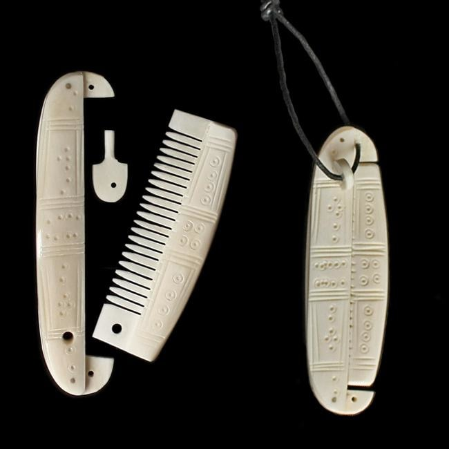 Decorated Encased Bone Viking Comb - Viking Combs