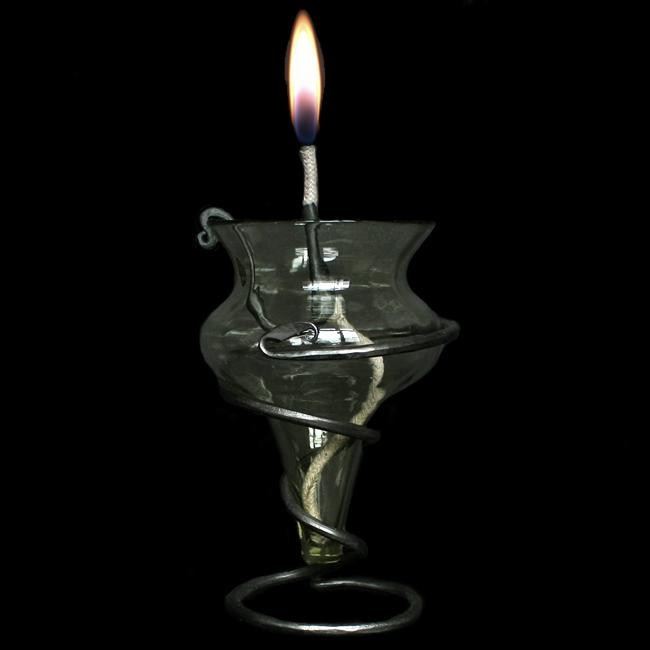 Medieval Glass Oil Lamp - Viking & Medieval Lighting