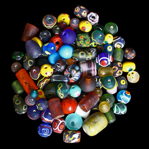 Assorted Glass Replica Viking Beads From Birka x 100 - Viking Jewelry