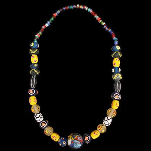 Large Glass Bead Viking Necklace - Viking Beads