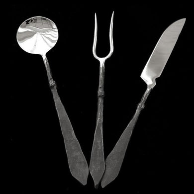Steel Medieval Banquet Set - Viking Eating Utensils