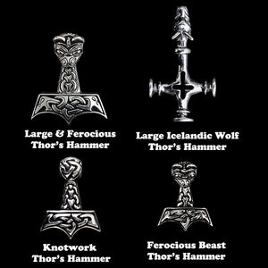 Silver Thor's Hammer Selections for Silver Thor's Hammer Necklaces - Viking Jewelry