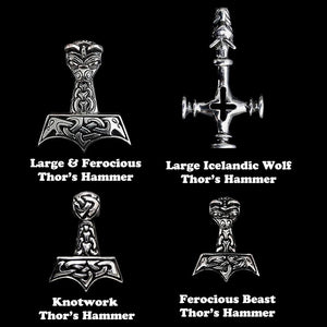 Silver Thor's Hammer Selections for your Thor's Hammer Necklace - Viking Jewelry