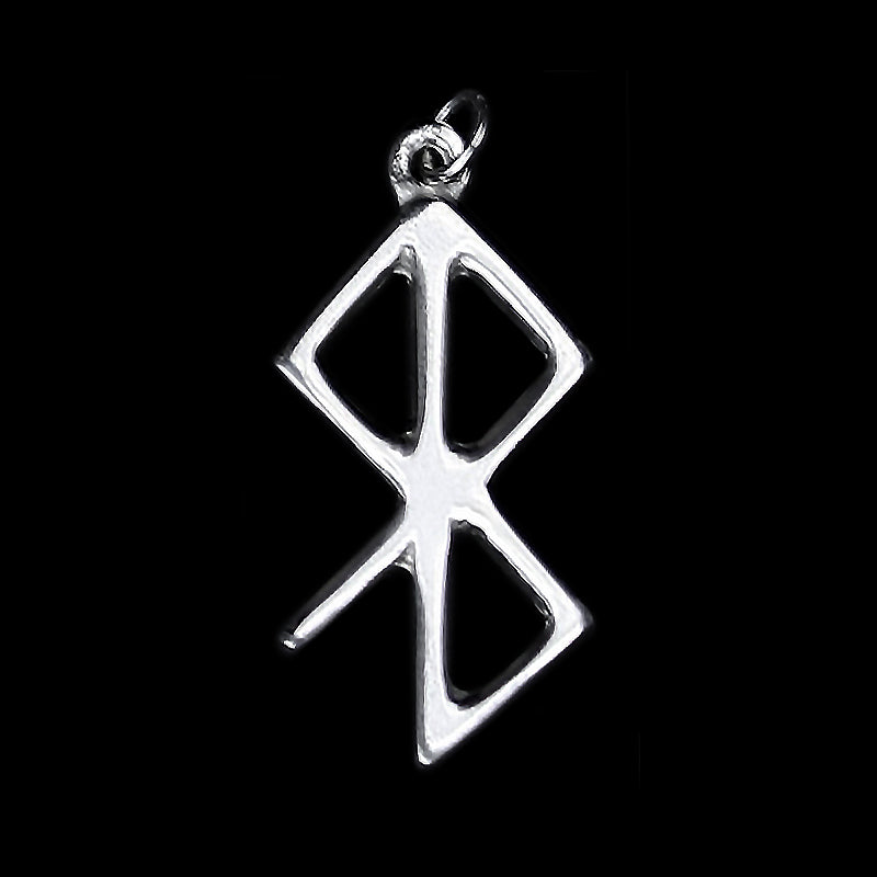 Peace & Happiness Bind Rune Pendant in Pewter - Viking Jewelry