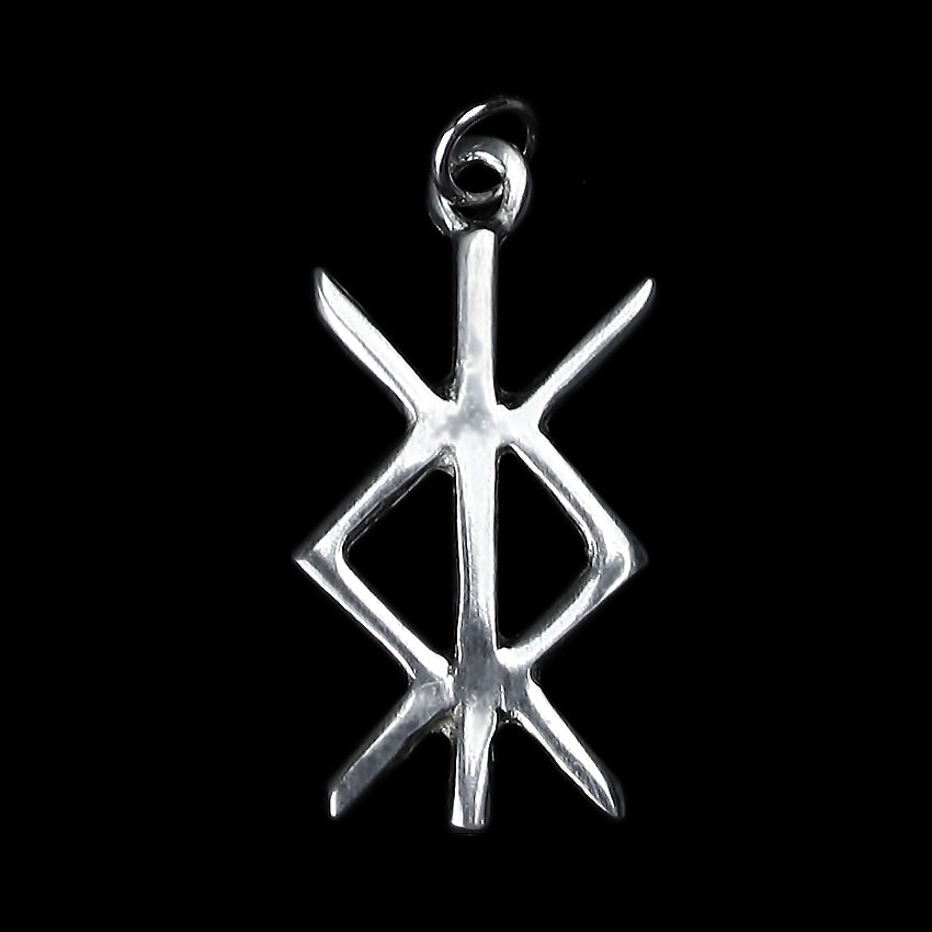 Protection Bind Rune Pendant in Pewter - Viking Jewelry