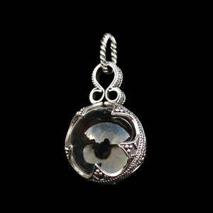 Medium Silver Crystal Ball Pendant - Viking Pendants