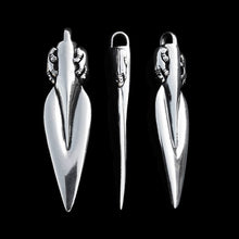 Load image into Gallery viewer, Silver Bear Spear Pendant - Viking Pendants - Viking Jewelry