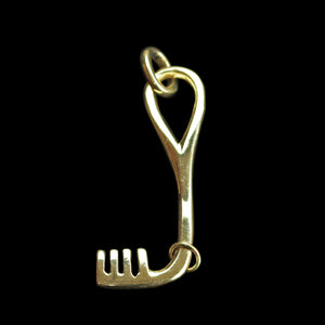 Bronze Viking L-Shaped Key Pendant - Viking Jewelry / Accessories