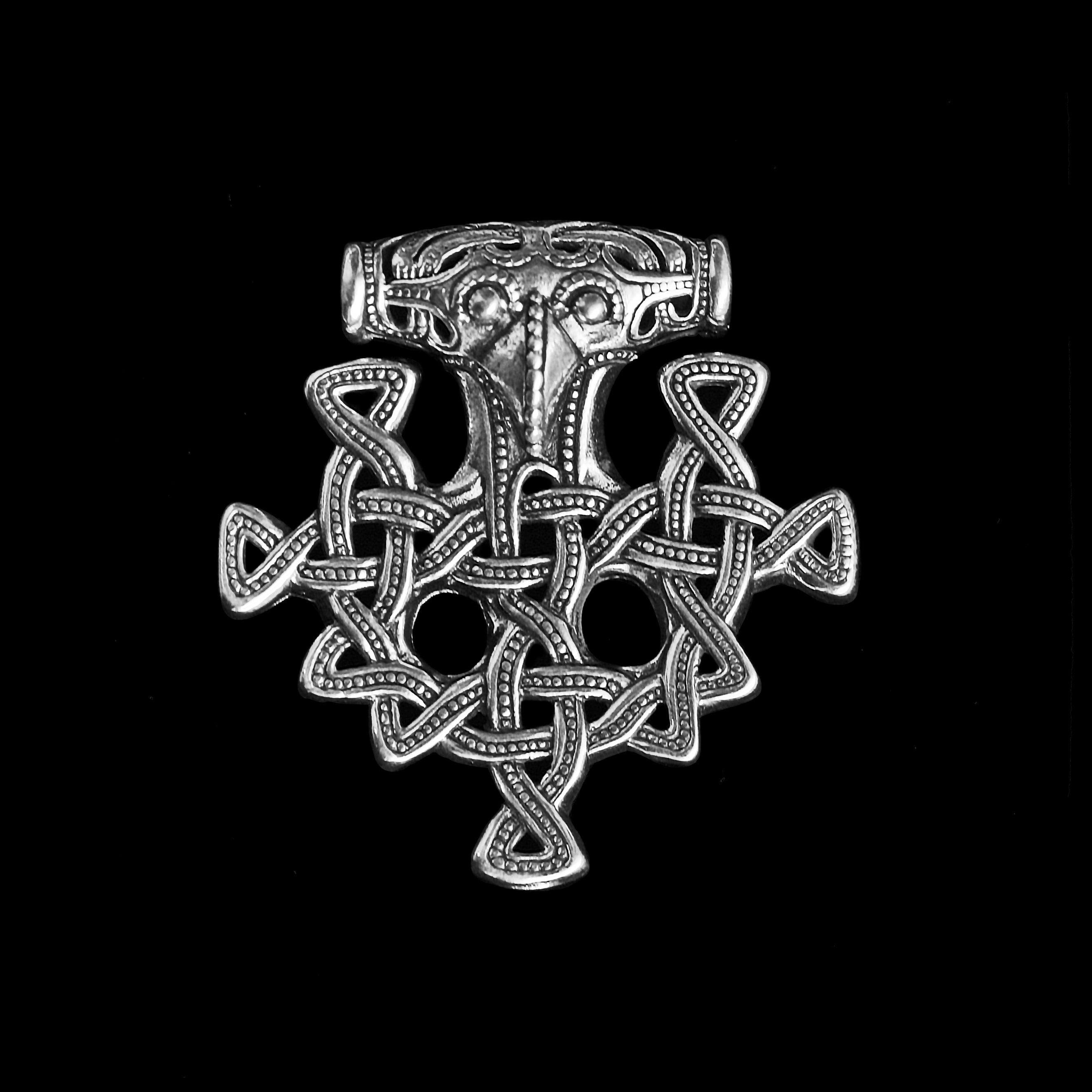 Silver Hiddensee Replica Thors Hammer Pendant
