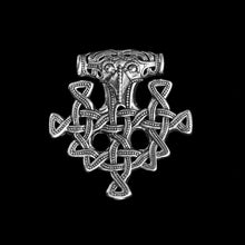 Load image into Gallery viewer, Hiddensee Viking Thors Hammer Pendant - Silver - Viking Jewelry