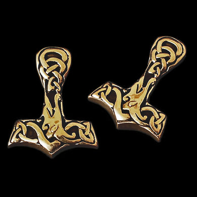 Interlace Bronze Thors Hammer - Viking Pendants