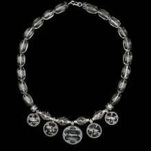 Load image into Gallery viewer, 5 Lens Rock Crystal & Silver Necklace from Gotland