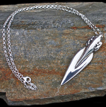 Load image into Gallery viewer, Silver Bear Spear Pendant on Rock - Viking Jewelry