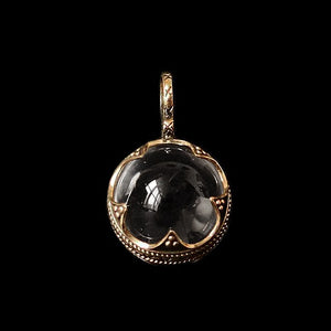Small Gotland Crystal Ball Pendant - Bronze - Viking Pendants