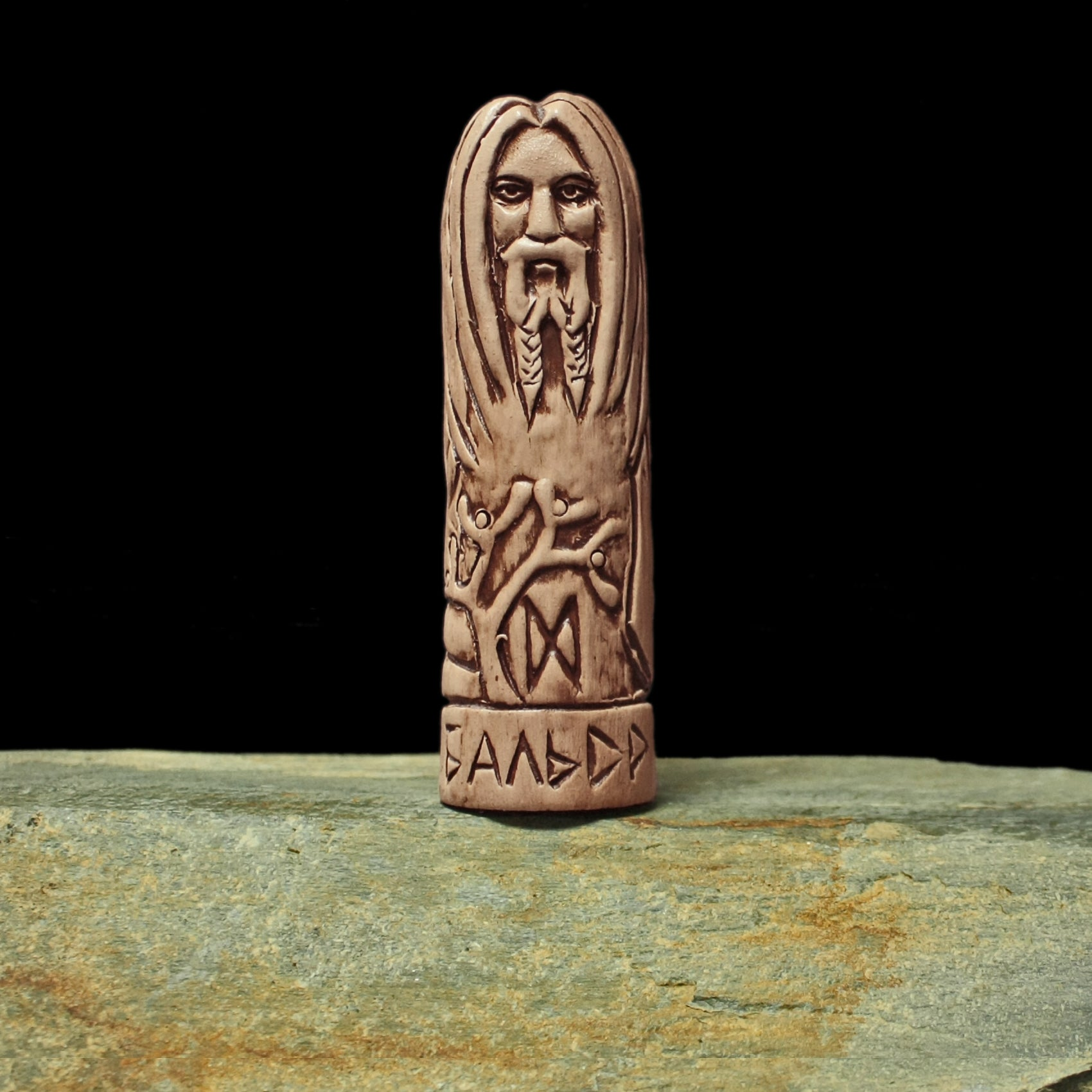 Hand-Crafted Ceramic Baldr Statuette