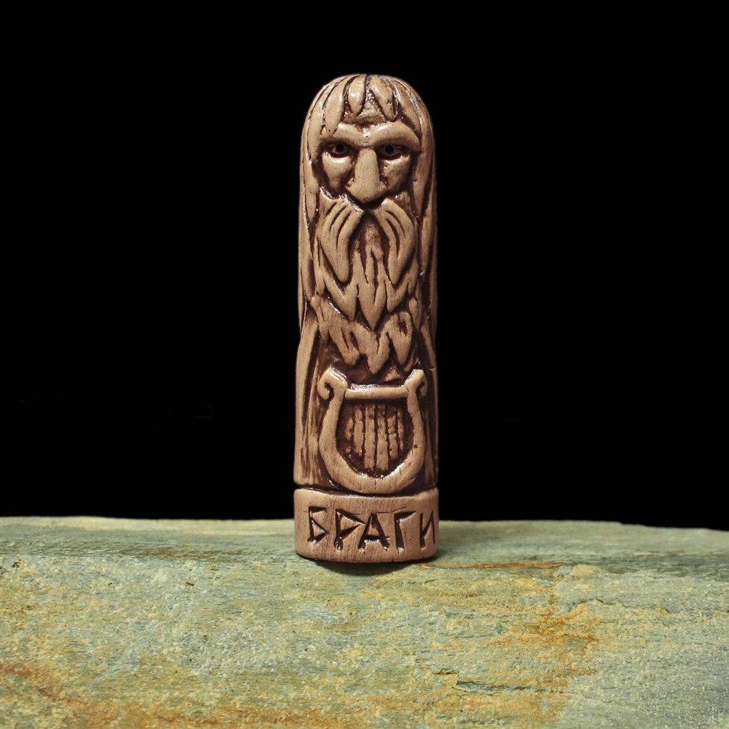 Hand-Crafted Ceramic Bragi Statuette - Asatur / Heathen Supplies