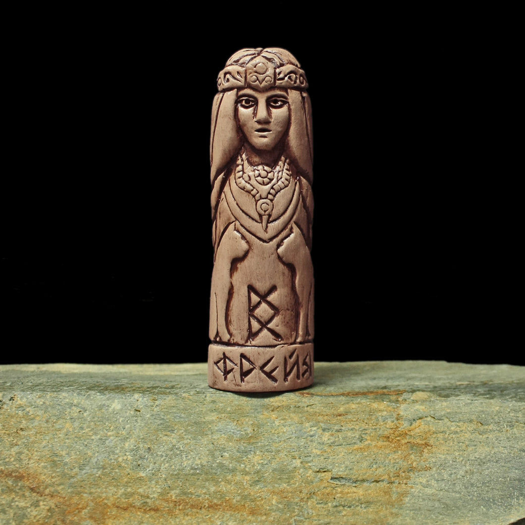 Hand-Crafted Ceramic Freya Statuette - Asatru / Heathen Supplies