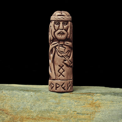 Hand-Crafted Ceramic Freyr Statuette - Asatru / Heathen Supplies