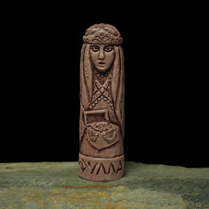 Hand-Crafted Ceramic Fulla Statuette - Asatru / Heathen Supplies