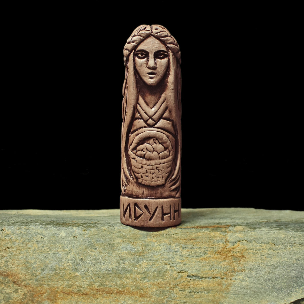 Hand-Crafted Ceramic Idunn Statuette - Asatru / Heathen Supplies