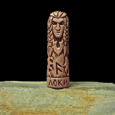 Hand-Crafted Ceramic Loki Statuette - Asatru / Heathen Supplies