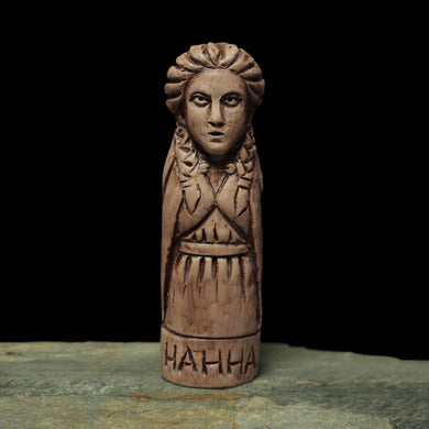Statuette of the Norse Goddess Nanna in Hand-Crafted Clay