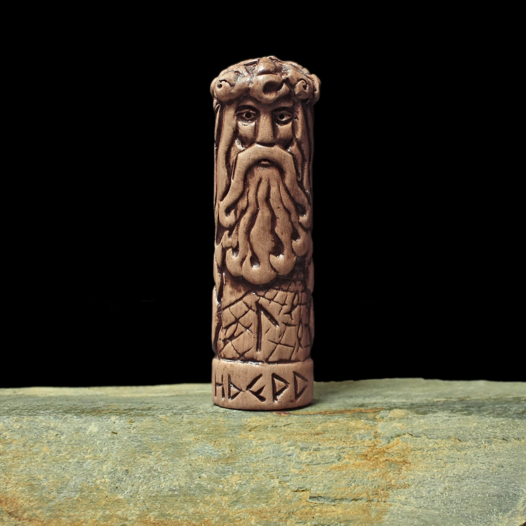 Hand-Crafted Ceramic Njord Statuette