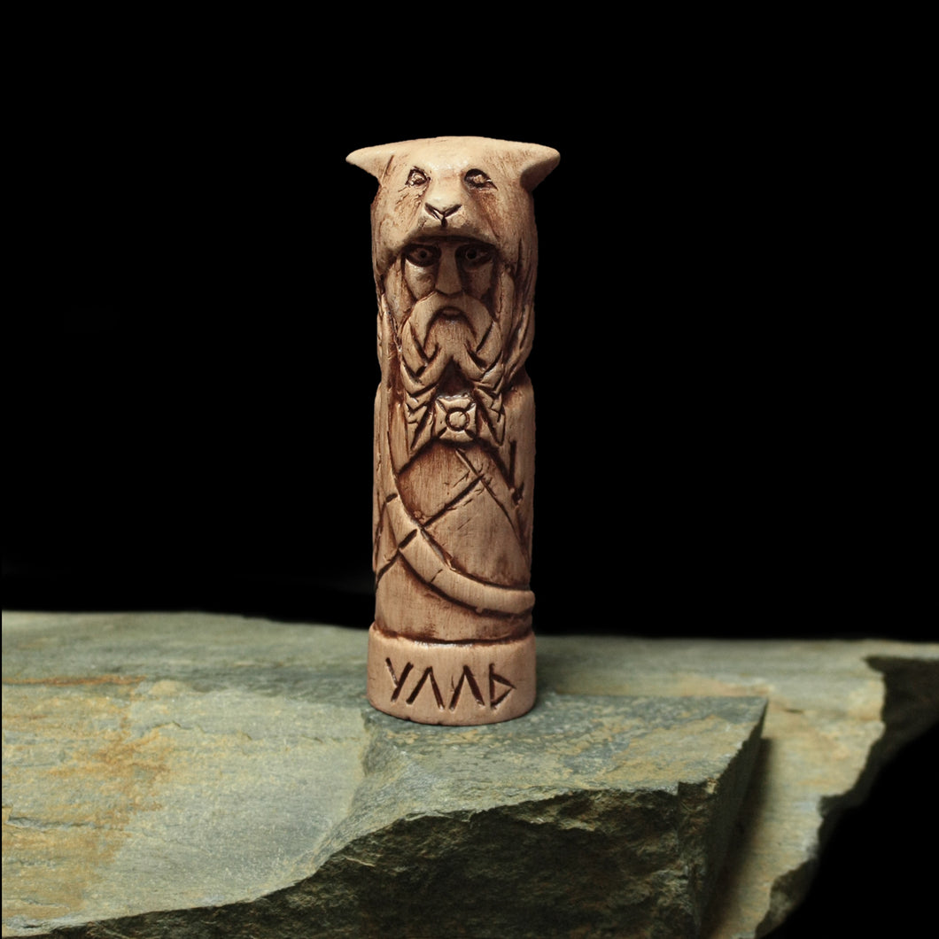 Hand-Crafted Ceramic Ullr Statuette