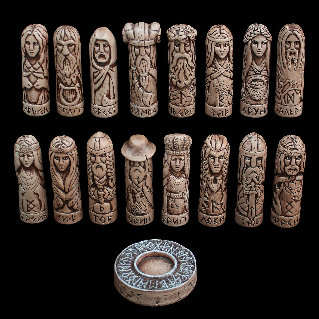 Hand-Crafted Ceramic Norse Gods Collection - Asatru Supplies