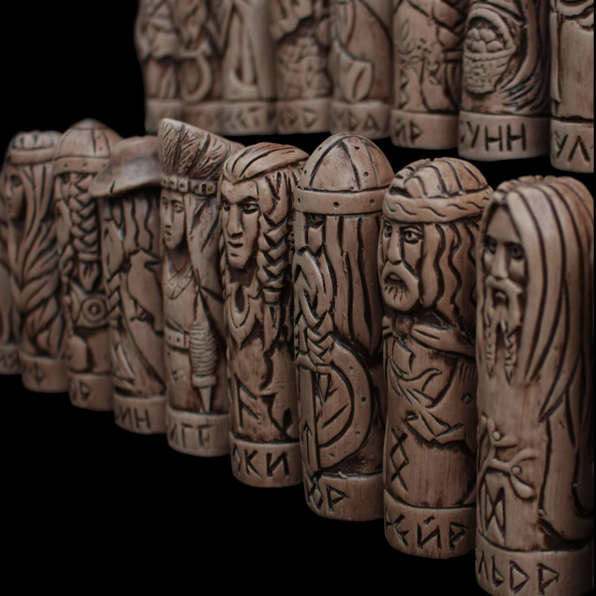 Hand-Crafted Ceramic Norse Gods Collection