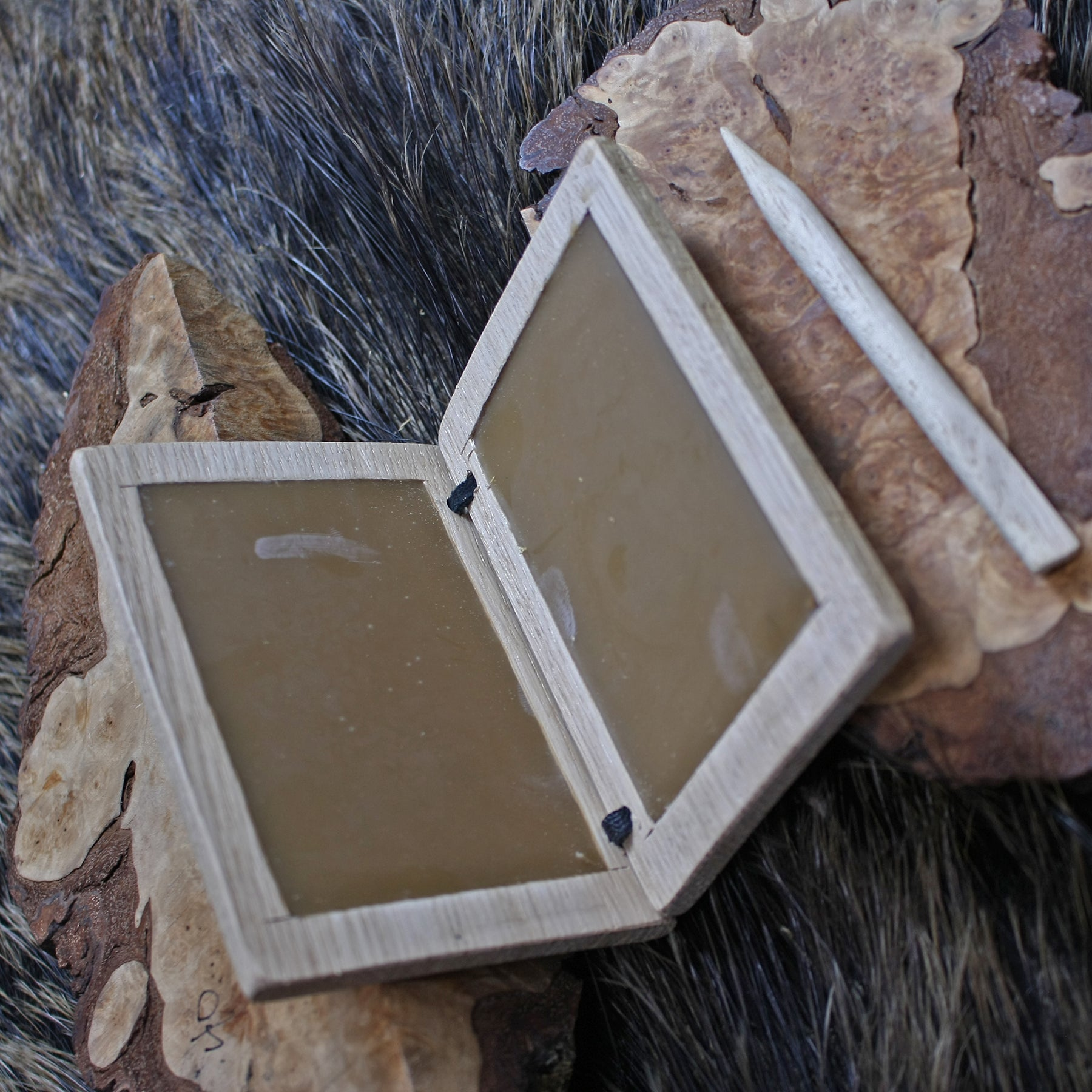 Wax Writing Tablet with Wooden Stylus