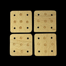 Load image into Gallery viewer, Handmade Birch Wood Tablets x 4 for Tablet Weaving - Viking Crafts