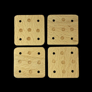 Handmade Birch Wood Tablets x 4 for Tablet Weaving - Viking Crafts