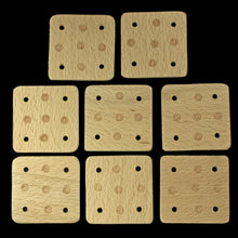 Load image into Gallery viewer, Handmade Birch Wood Tablets x 8 for Tablet Weaving - Viking Crafts