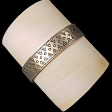 Load image into Gallery viewer, Bronze Replica Bracelet from Birka on Leather Roll - Viking Replica Jewelry