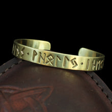 Load image into Gallery viewer, Bronze Runic Fate Viking / Saxon Bracelet